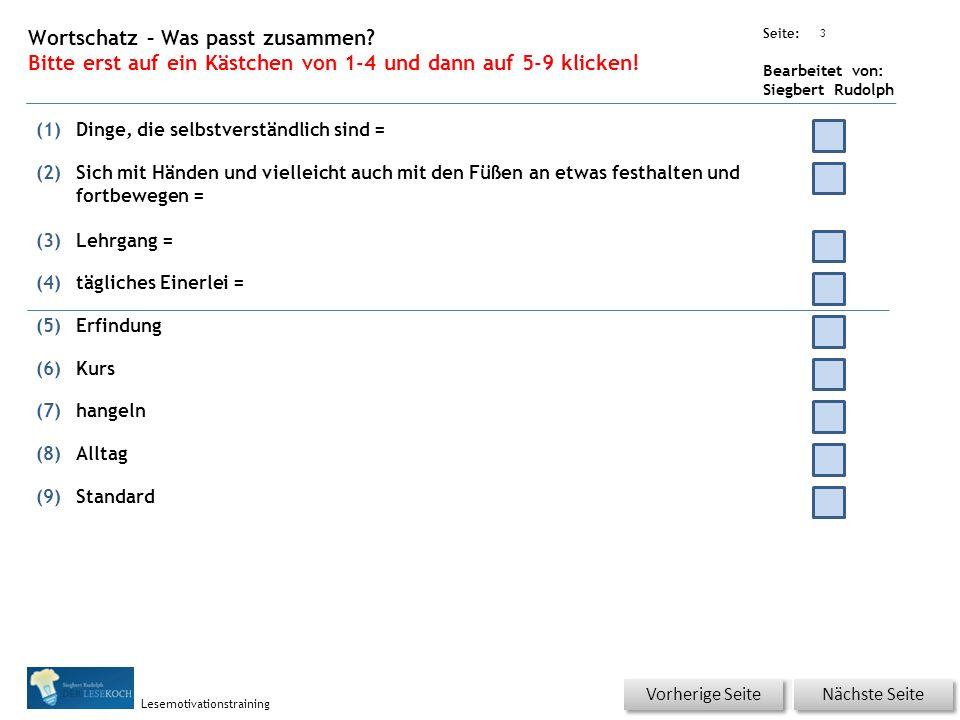 Übungsart: Seite: Bearbeitet von: Siegbert Rudolph Lesemotivationstraining 2 22 Besser oder schlechter.