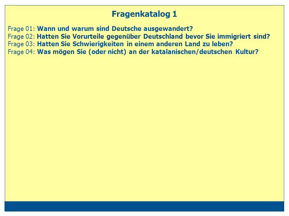 Fragenkatalog 1 Frage 01: Wann und warum sind Deutsche ausgewandert.