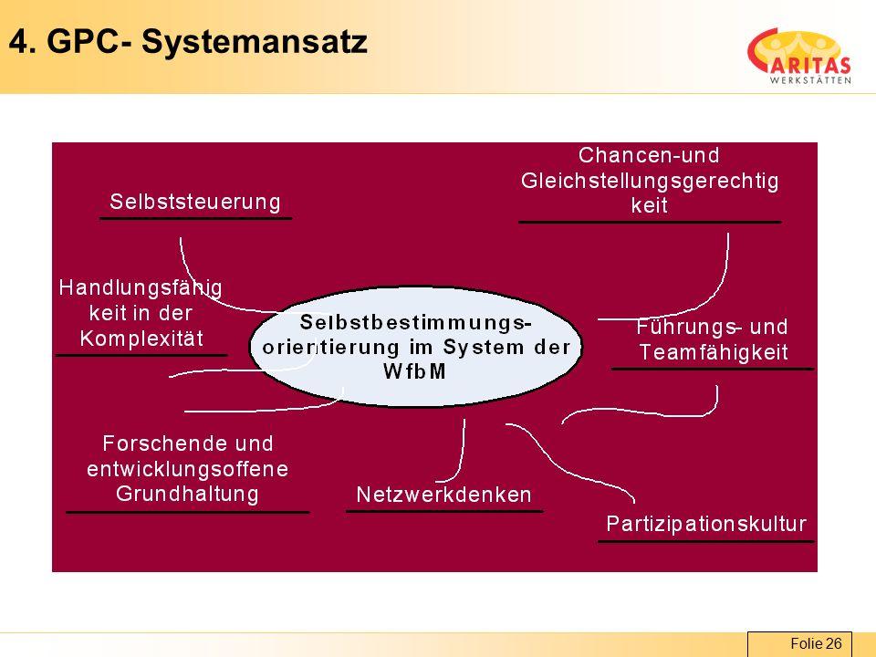 Folie 26 4. GPC- Systemansatz