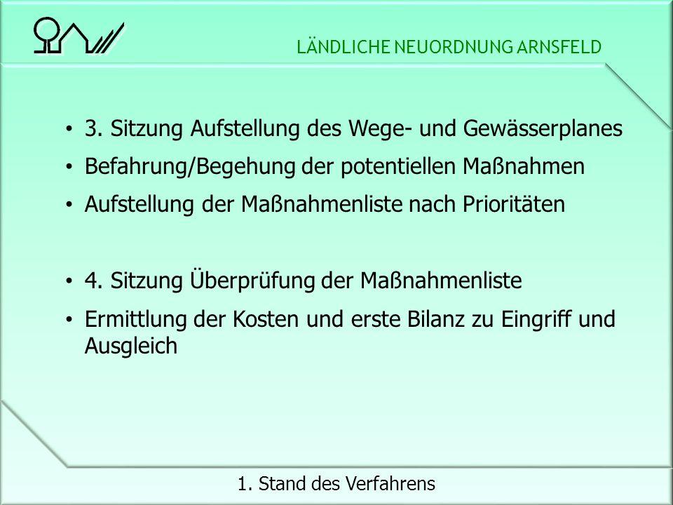 LÄNDLICHE NEUORDNUNG ARNSFELD 1. Stand des Verfahrens 3.
