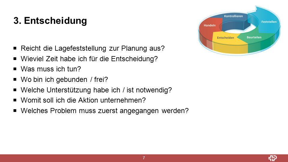 3. Entscheidung 7  Reicht die Lagefeststellung zur Planung aus.