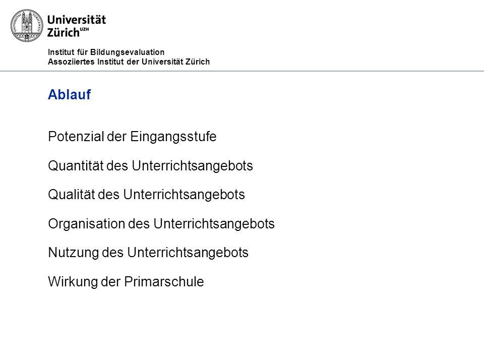 Institut für Bildungsevaluation Assoziiertes Institut der Universität Zürich 1.