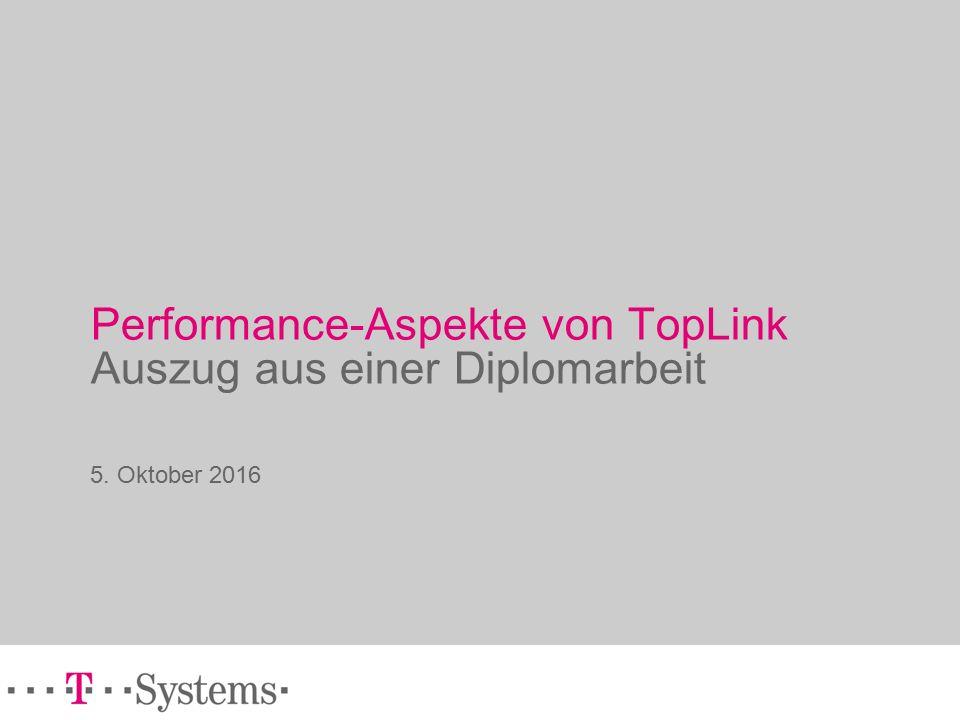 Performance-Aspekte von TopLink Auszug aus einer Diplomarbeit 5. Oktober 2016