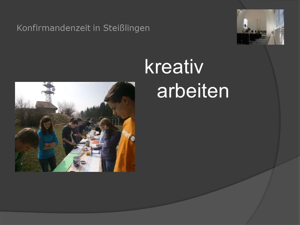 Konfirmandenzeit in Steißlingen kreativ arbeiten