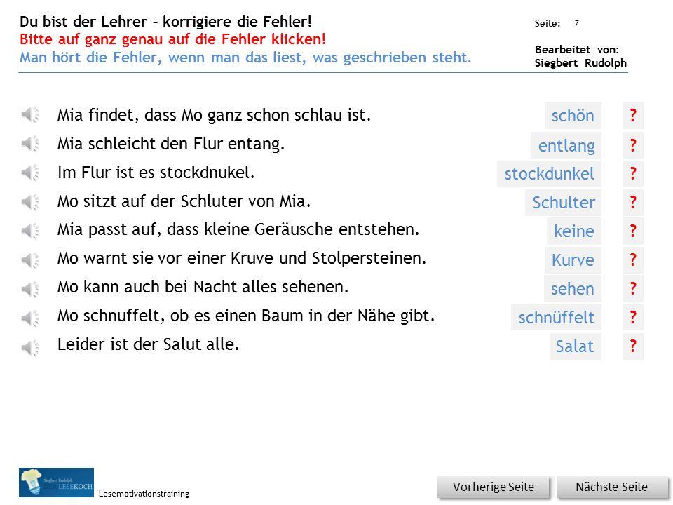 Übungsart: Seite: Bearbeitet von: Siegbert Rudolph Lesemotivationstraining 6 Silbenhammer Bitte klicken.