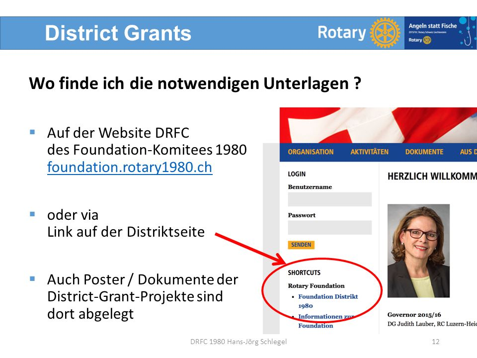 District Grants 12DRFC 1980 Hans-Jörg Schlegel Wo finde ich die notwendigen Unterlagen .