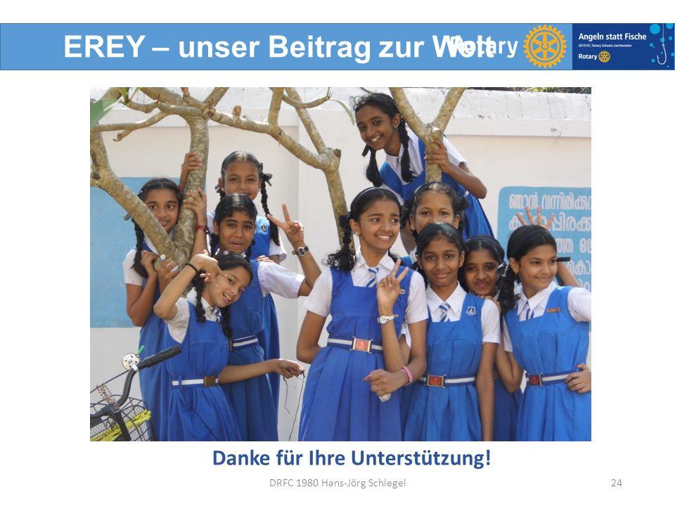 EREY – unser Beitrag zur Welt Danke für Ihre Unterstützung! 24DRFC 1980 Hans-Jörg Schlegel