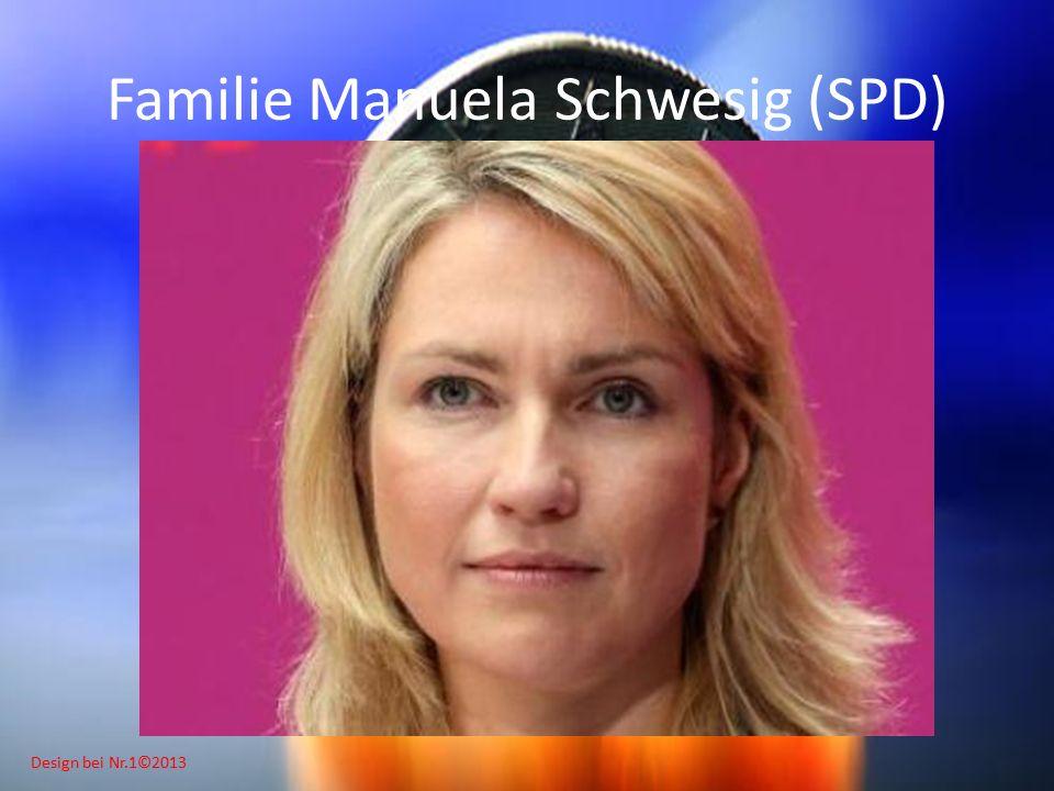Design bei Nr.1©2013 Familie Manuela Schwesig (SPD)