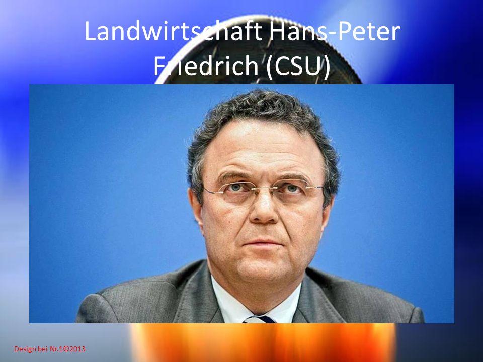 Design bei Nr.1©2013 Landwirtschaft Hans-Peter Friedrich (CSU)