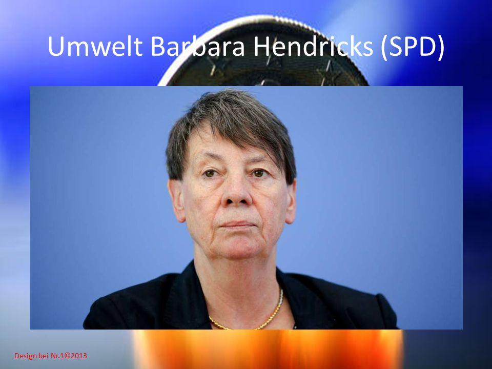 Design bei Nr.1©2013 Umwelt Barbara Hendricks (SPD)
