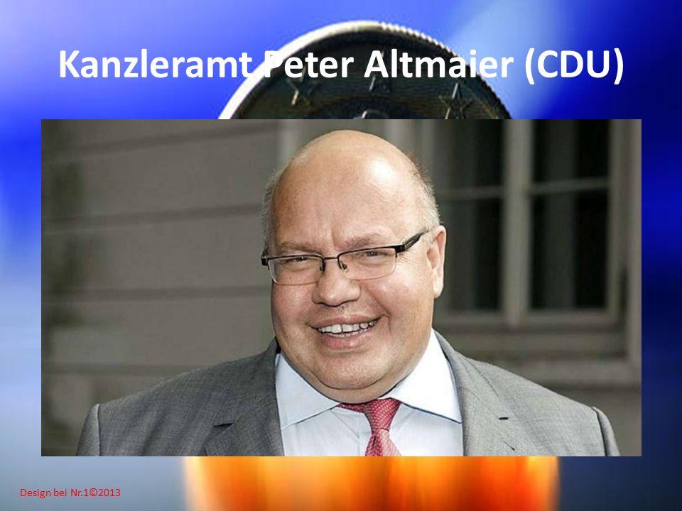 Design bei Nr.1©2013 Kanzleramt Peter Altmaier (CDU)