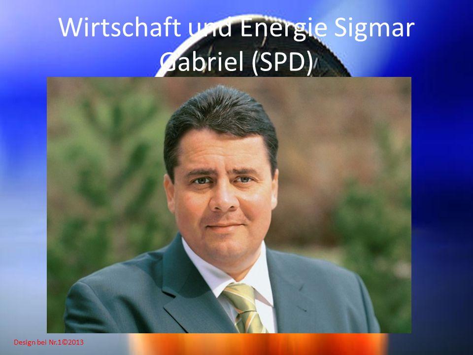 Design bei Nr.1©2013 Wirtschaft und Energie Sigmar Gabriel (SPD)