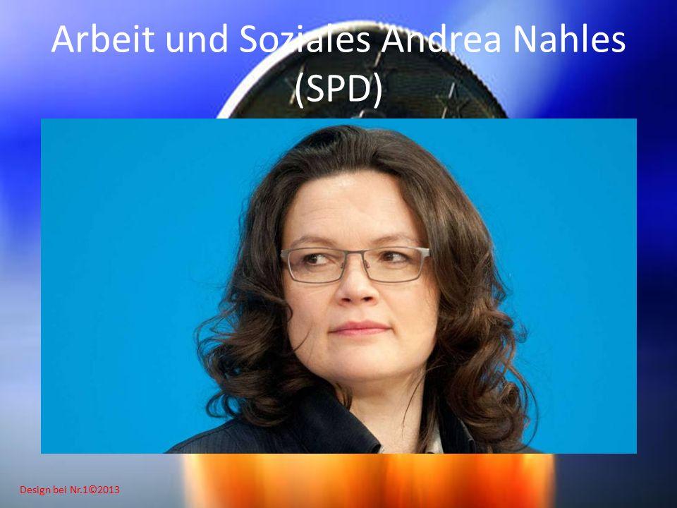 Design bei Nr.1©2013 Arbeit und Soziales Andrea Nahles (SPD)