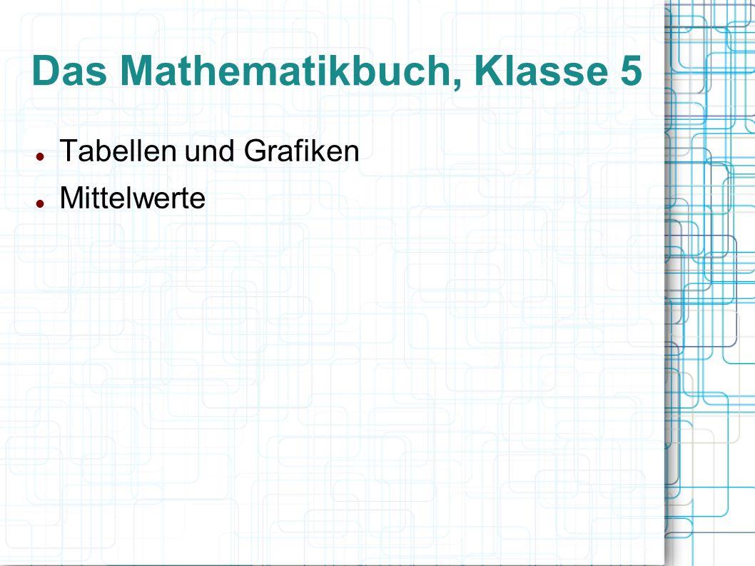 Das Mathematikbuch, Klasse 5 Tabellen und Grafiken Mittelwerte
