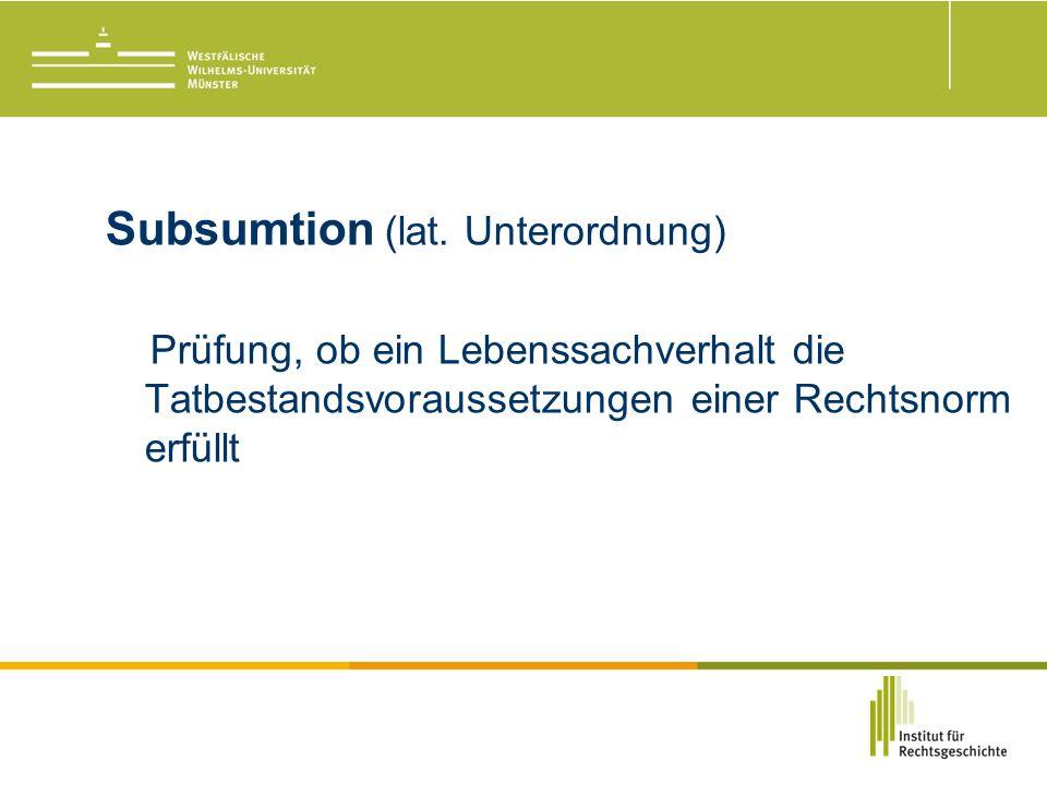 Subsumtion (lat.