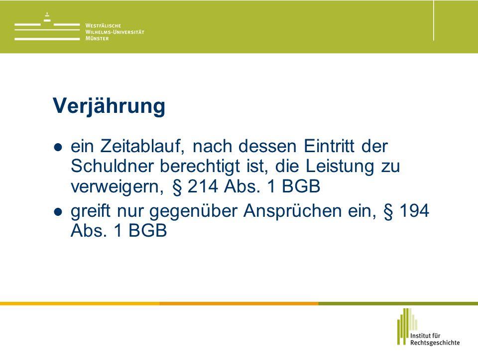 ein Zeitablauf, nach dessen Eintritt der Schuldner berechtigt ist, die Leistung zu verweigern, § 214 Abs.