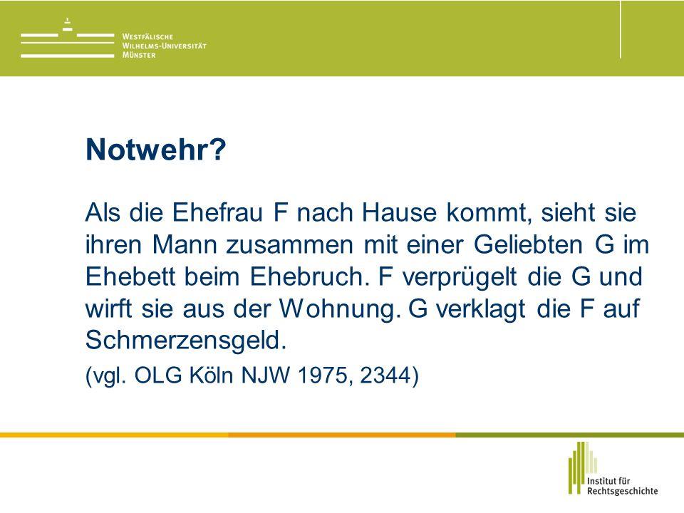 Notwehr.