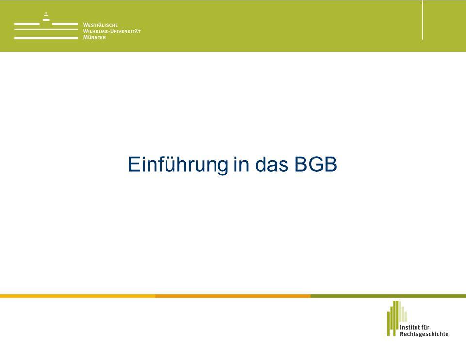 Einführung in das BGB