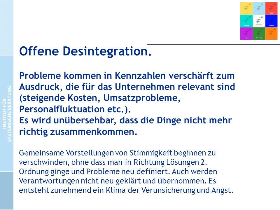 Offene Desintegration.