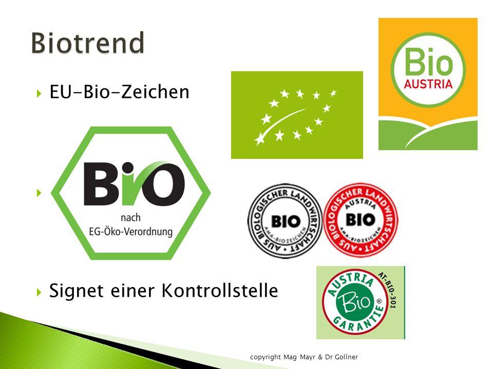  EU-Bio-Zeichen  AMA Bio-Zeichen  Signet einer Kontrollstelle copyright Mag Mayr & Dr Gollner