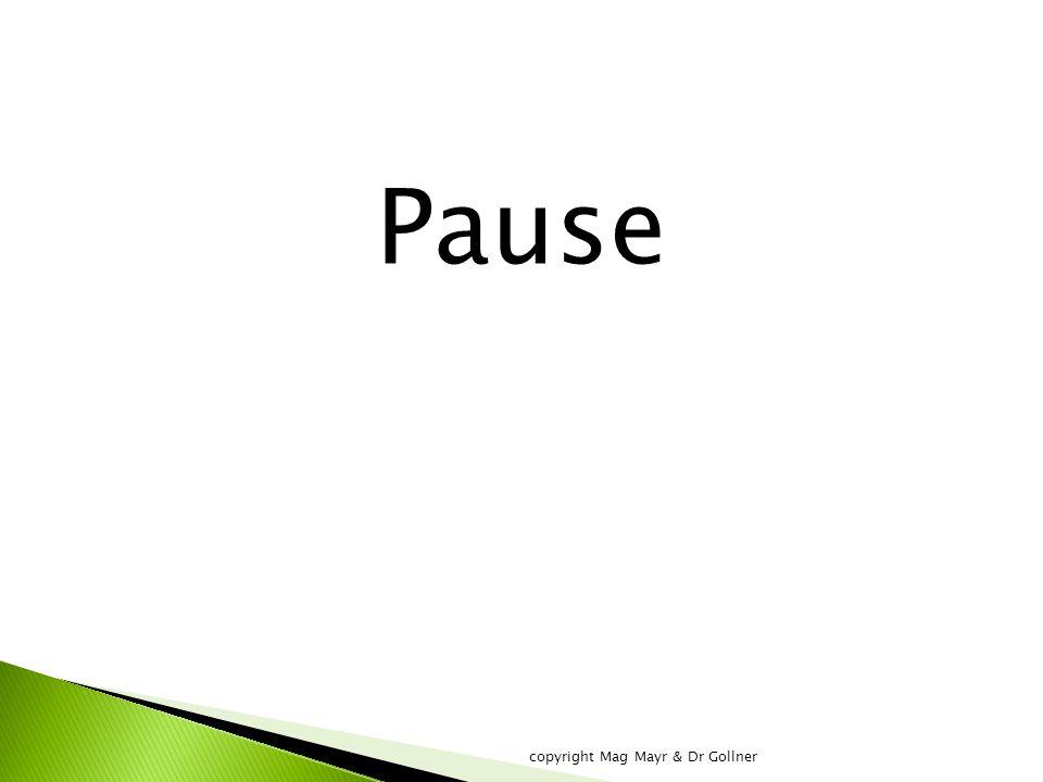 Pause copyright Mag Mayr & Dr Gollner