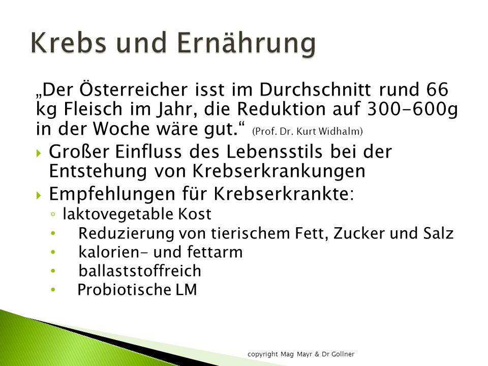 """""""Der Österreicher isst im Durchschnitt rund 66 kg Fleisch im Jahr, die Reduktion auf 300-600g in der Woche wäre gut. (Prof."""