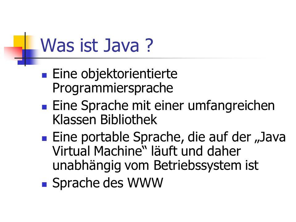 Was ist Java .