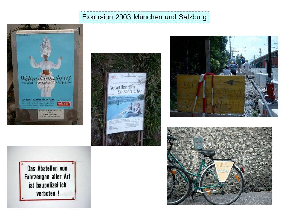 Exkursion 2003 München und Salzburg