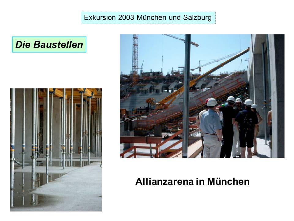 Exkursion 2003 München und Salzburg Die Baustellen Allianzarena in München