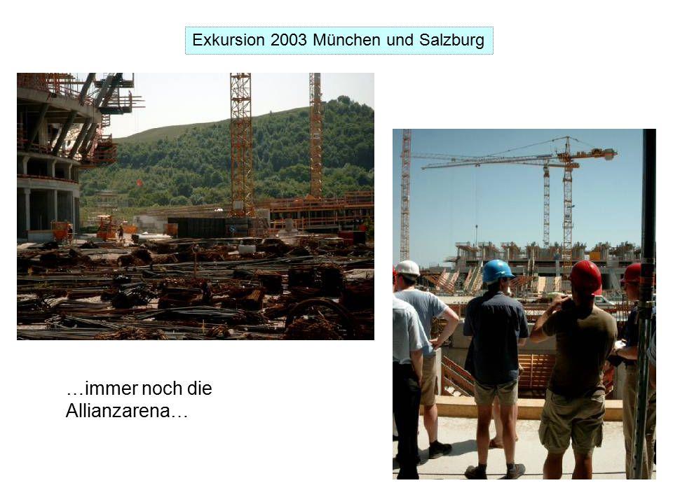 Exkursion 2003 München und Salzburg …immer noch die Allianzarena…