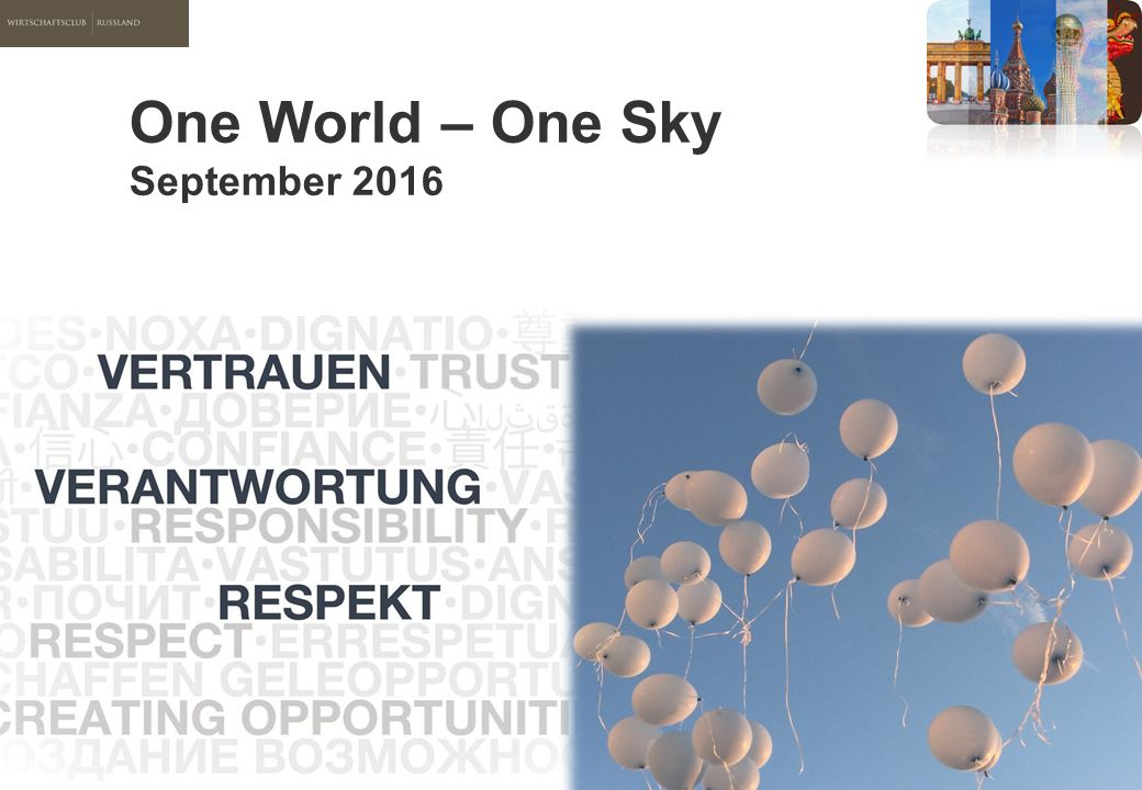 One World – One Sky September 2016