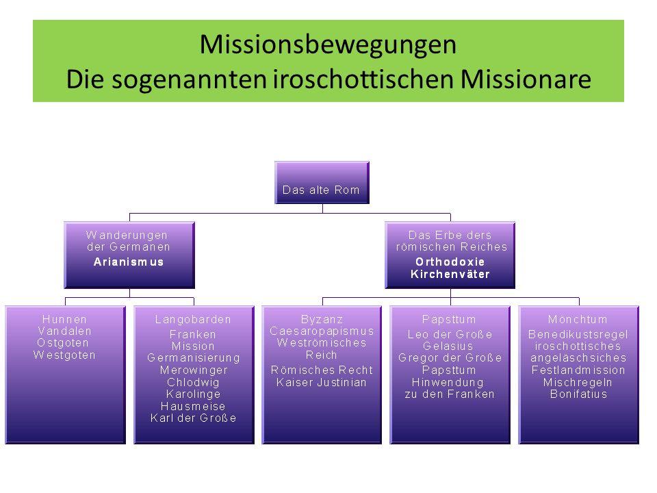 Missionsbewegungen Die sogenannten iroschottischen Missionare