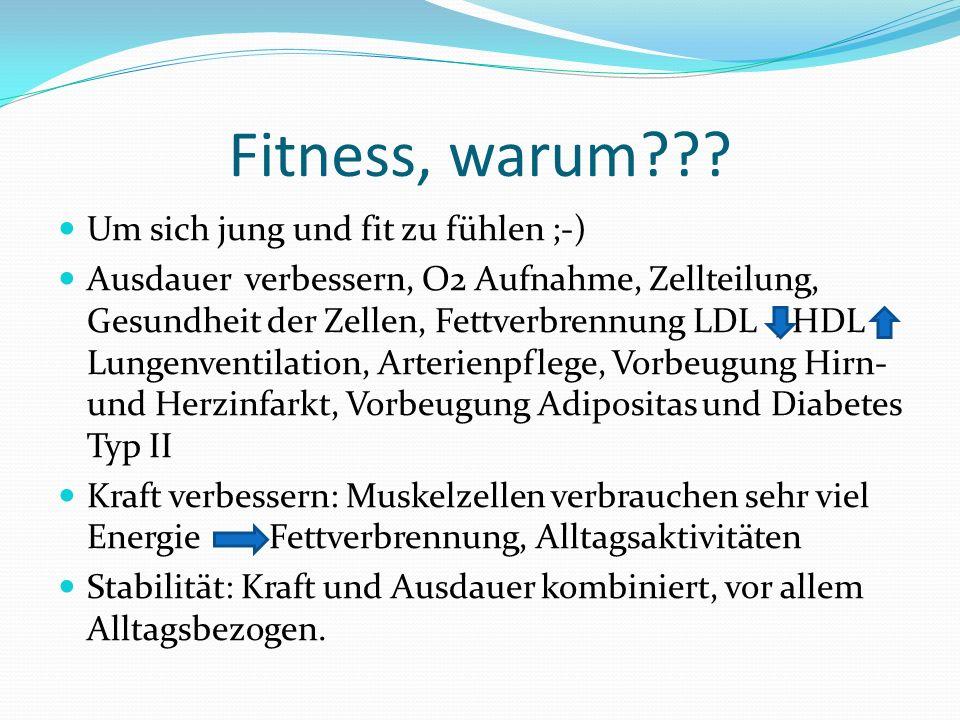 Fitness, warum .