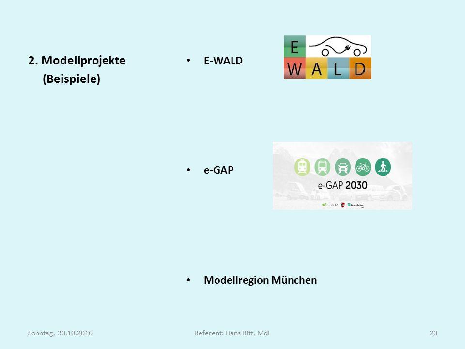 E-WALD e-GAP Modellregion München 2.