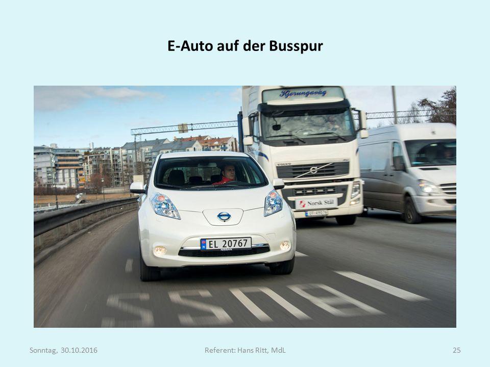 E-Auto auf der Busspur Sonntag, 30.10.2016Referent: Hans Ritt, MdL25