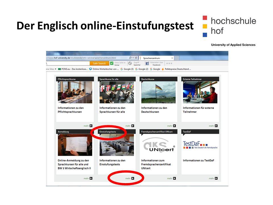 Der Englisch online-Einstufungstest