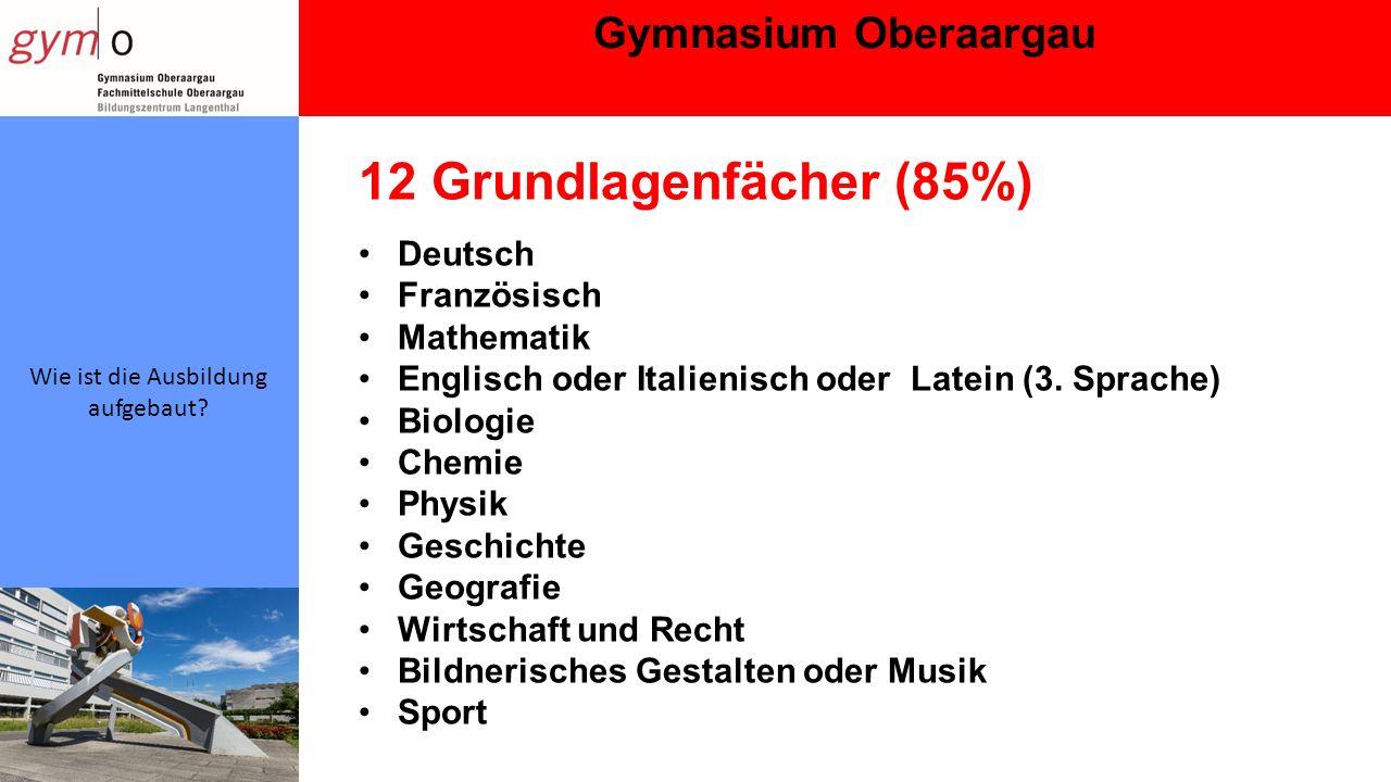 Gymnasium Oberaargau Wie ist die Ausbildung aufgebaut.
