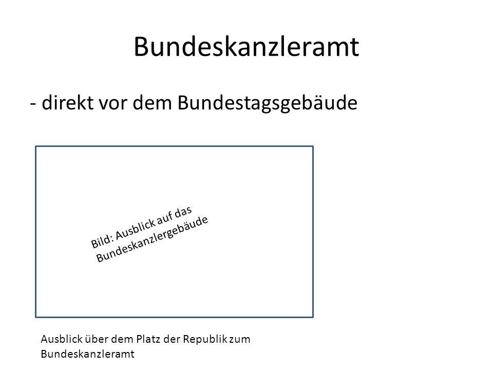 Bundeskanzleramt - direkt vor dem Bundestagsgebäude Bild: Ausblick auf das Bundeskanzlergebäude Ausblick über dem Platz der Republik zum Bundeskanzleramt