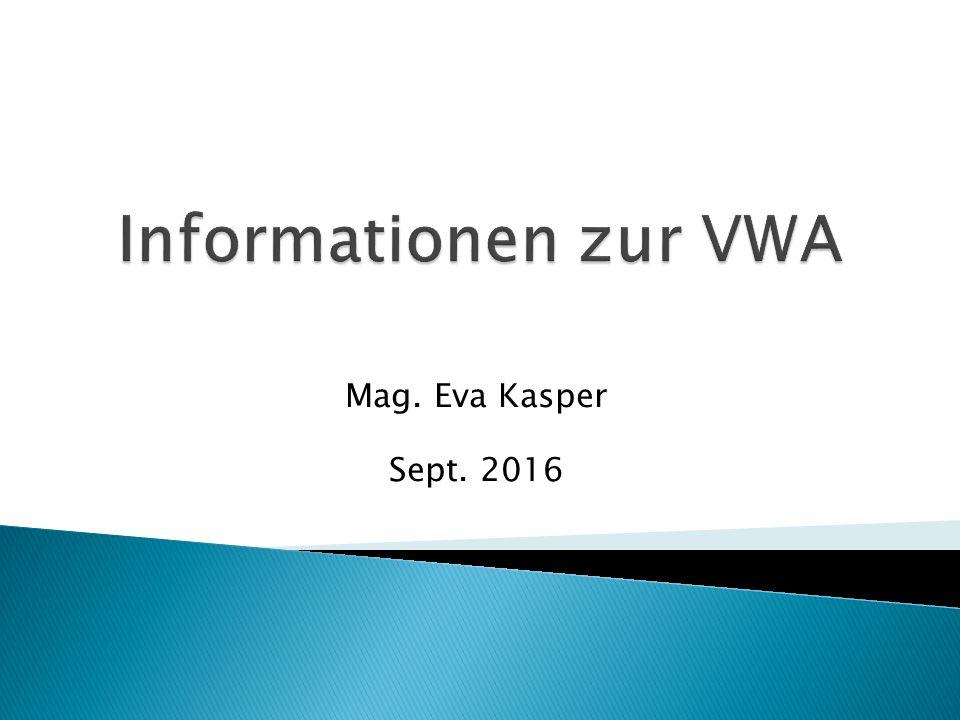 Mag. Eva Kasper Sept. 2016