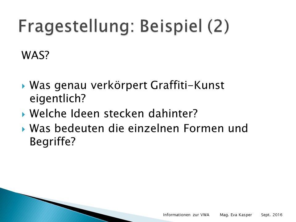 WAS.  Was genau verkörpert Graffiti-Kunst eigentlich.