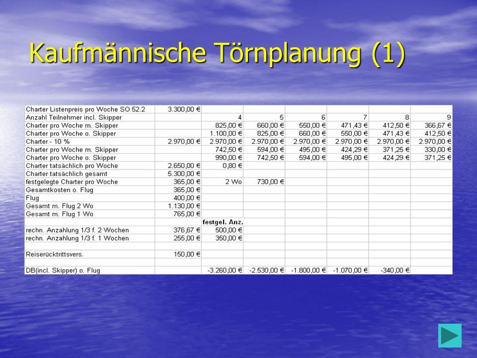 Kaufmännische Törnplanung (1)
