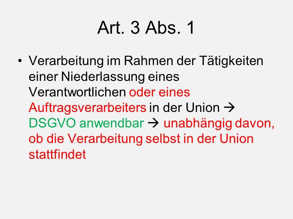 Art. 3 Abs.