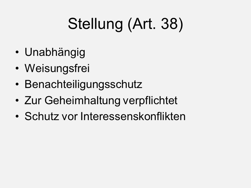 Stellung (Art.