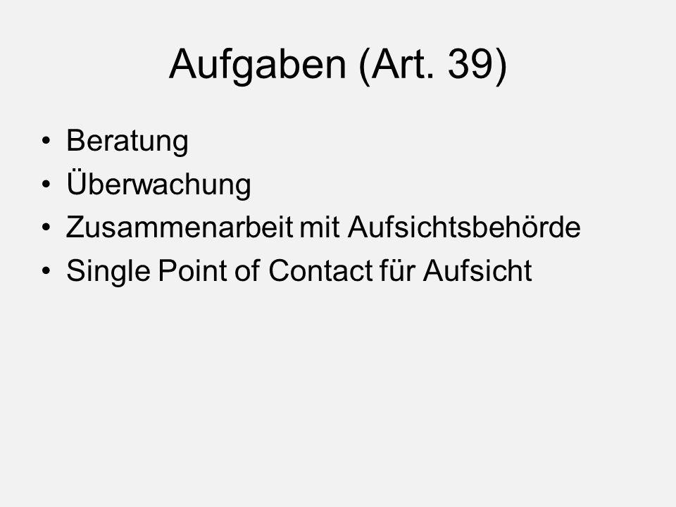 Aufgaben (Art.
