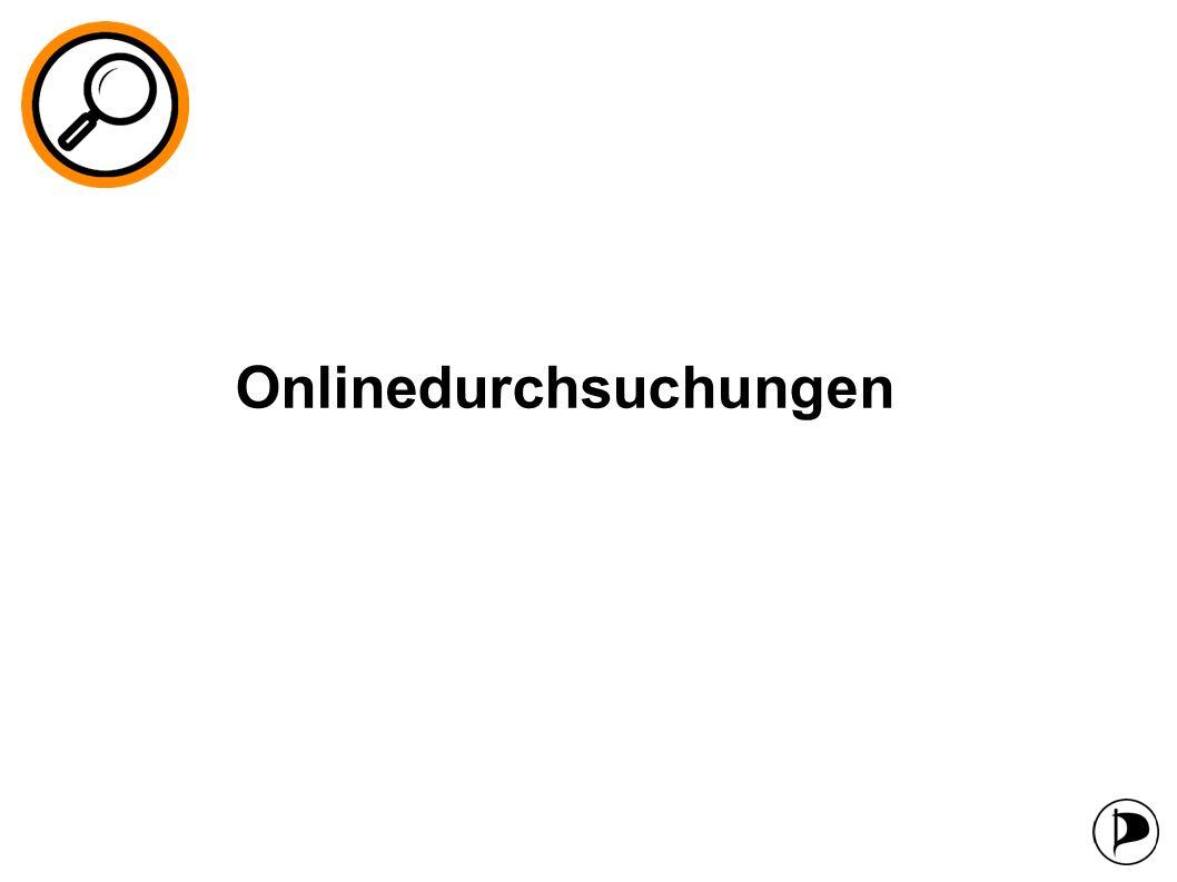 Onlinedurchsuchungen