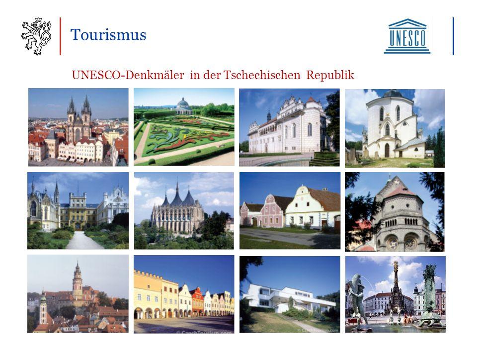 Tourismus UNESCO-Denkmäler in der Tschechischen Republik