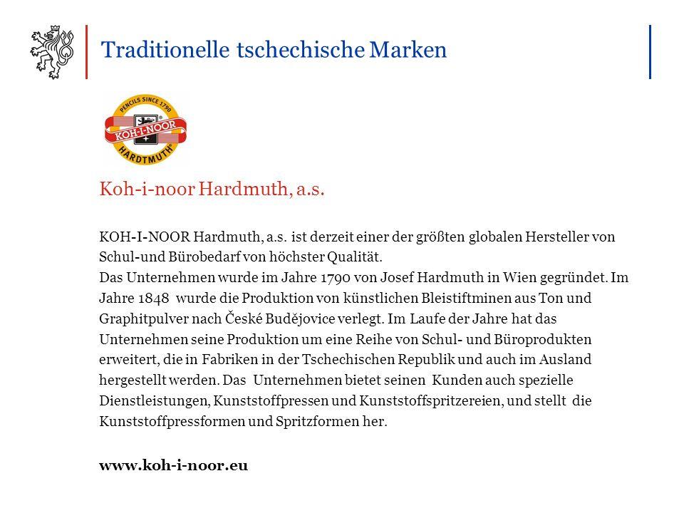 Traditionelle tschechische Marken KOH-I-NOOR Hardmuth, a.s.