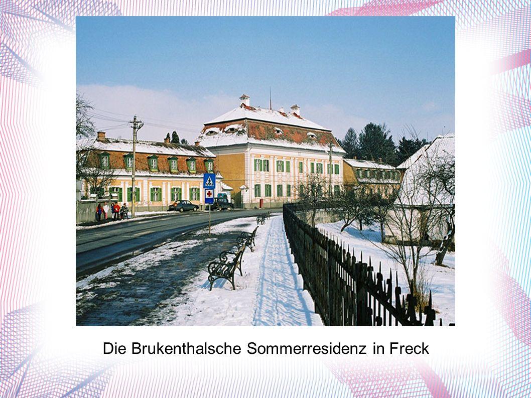 Die Brukenthalsche Sommerresidenz in Freck