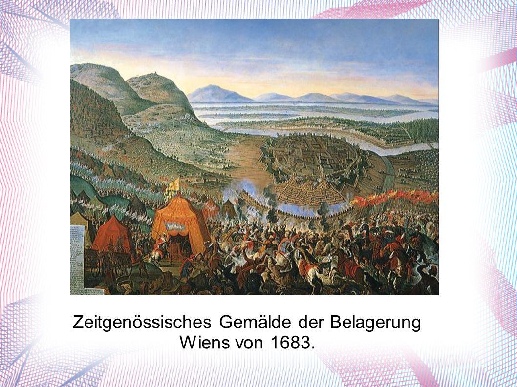 Zeitgenössisches Gemälde der Belagerung Wiens von 1683.