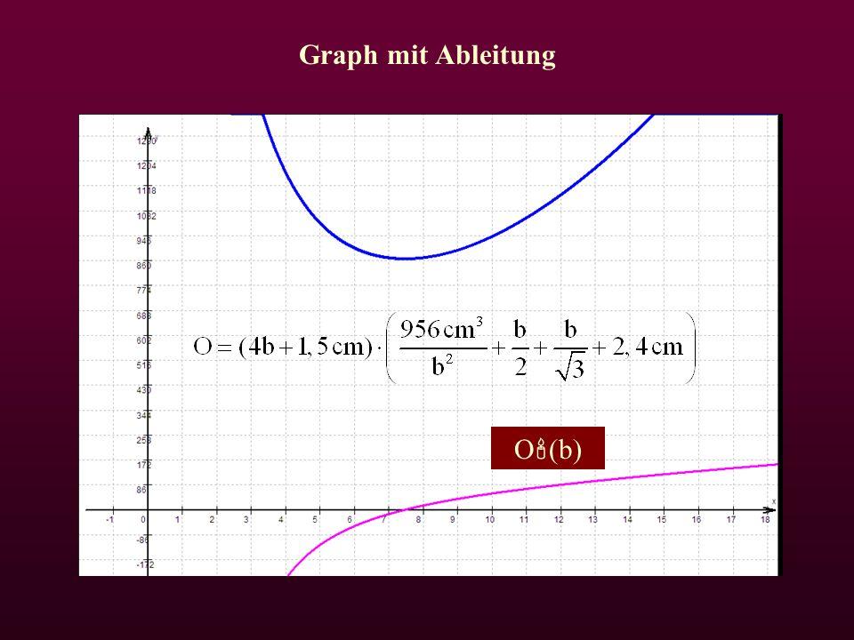 Graph mit Ableitung O  (b)